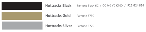 핫트랙스 서브컬러 Hottracks Black Pantone Black 6C / C0 M0 Y0 K100 / R26 G24 B24, Hottracks Black Pantone 873C, Hottracks Black Pantone 877C